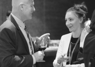 Networking with senior banking executive at the Australia-China Emerging Leaders Summit in Shanghai