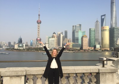 Couldn't contain my excitement on The Bund in Shanghai!